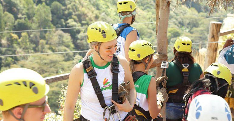inca jungle zipline group equipment